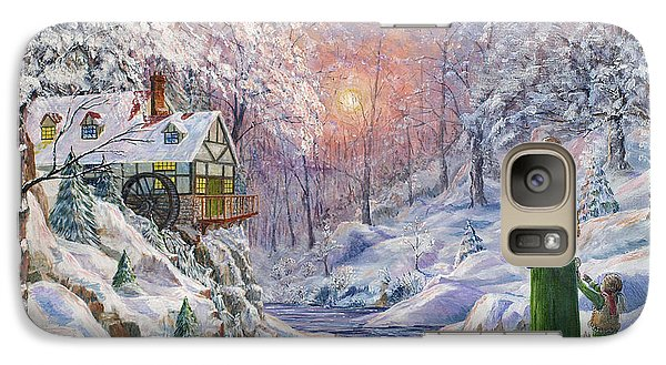 Galaxy Case featuring the painting Winter Wonderland by Anthony Lyon