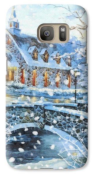 Mo Galaxy S7 Case - Winter Wonderland by Mo T