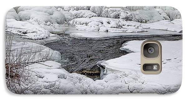 Galaxy Case featuring the photograph Vermillion Falls Winter Wonderland by Patti Deters