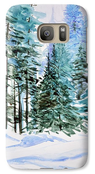 Galaxy Case featuring the painting Winter Woods by Joan Hartenstein