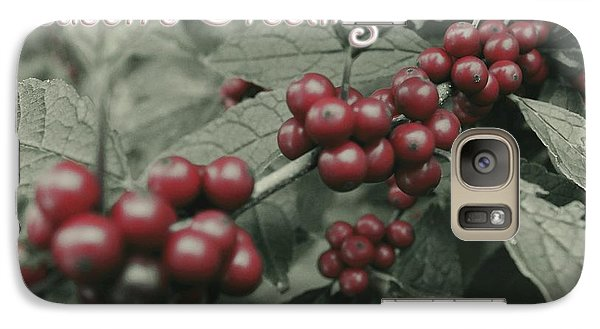 Galaxy Case featuring the photograph Winterberry Greetings by Photographic Arts And Design Studio
