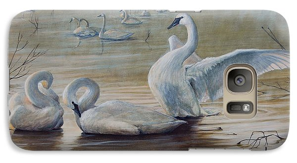 Wintering Trumpeters Galaxy Case by Rob Dreyer