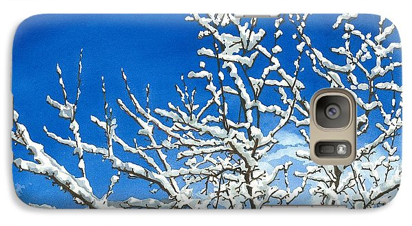 Galaxy Case featuring the painting Winter's Artistry by Barbara Jewell