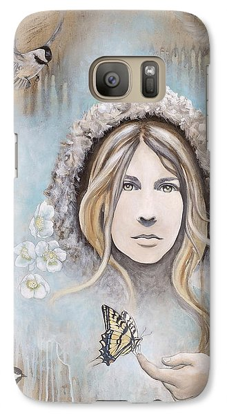 Galaxy Case featuring the painting Winter's Dream by Sheri Howe