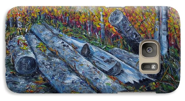 Galaxy Case featuring the painting Winter's Firewood by Marilyn  McNish