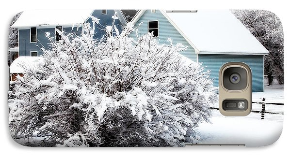 Galaxy Case featuring the photograph Winters First Snow by Deborah Fay