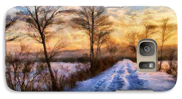 Galaxy Case featuring the painting Winters Glow by Elizabeth Coats