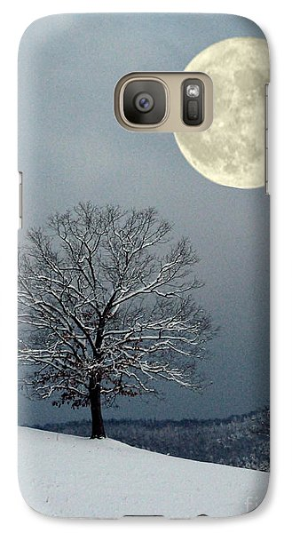 Galaxy Case featuring the photograph Winter's Moon by Laurinda Bowling