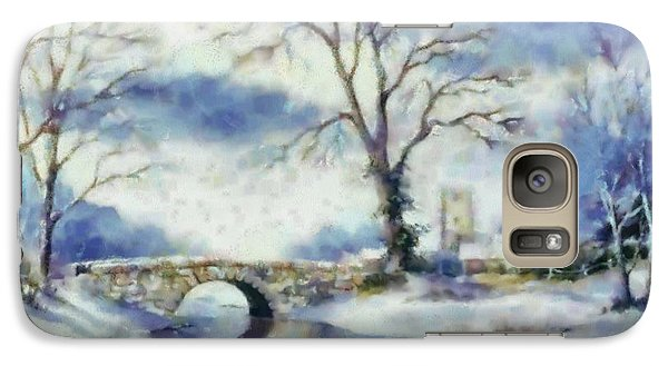 Galaxy Case featuring the painting Winters River by Elizabeth Coats