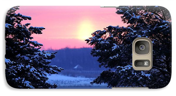 Galaxy Case featuring the photograph Winter's Sunrise by Elizabeth Winter