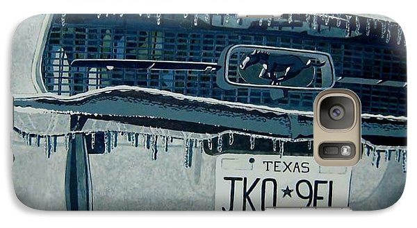Galaxy Case featuring the painting Winterschlaf Pferd by Jeffrey S Perrine