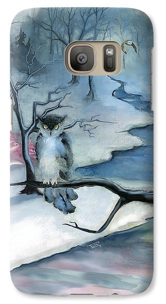 Galaxy Case featuring the painting Winterwood by Terry Webb Harshman