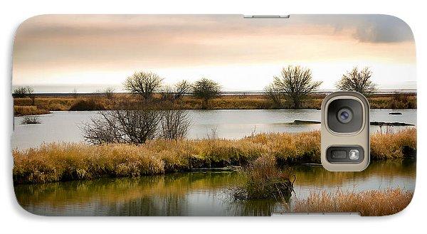Galaxy Case featuring the photograph Wintery Wetlands by Jordan Blackstone