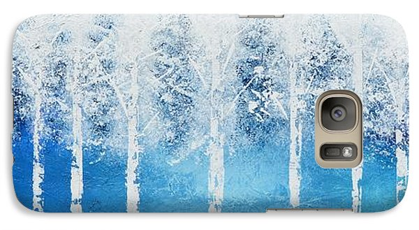 Galaxy Case featuring the painting Wintry Mix by Linda Bailey
