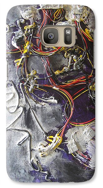 Galaxy Case featuring the painting Wirefly by Lucy Matta