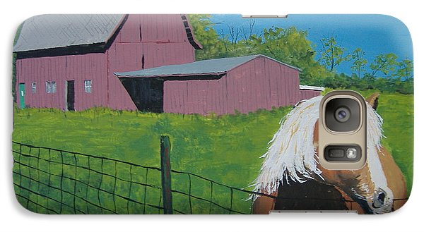 Galaxy Case featuring the painting Wisconsin Barn by Norm Starks