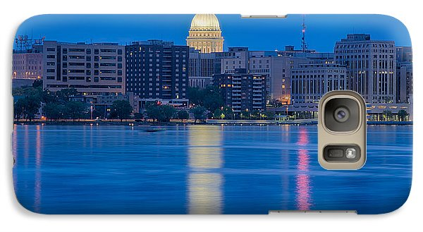 Galaxy Case featuring the photograph Wisconsin Capitol Reflection by Sebastian Musial