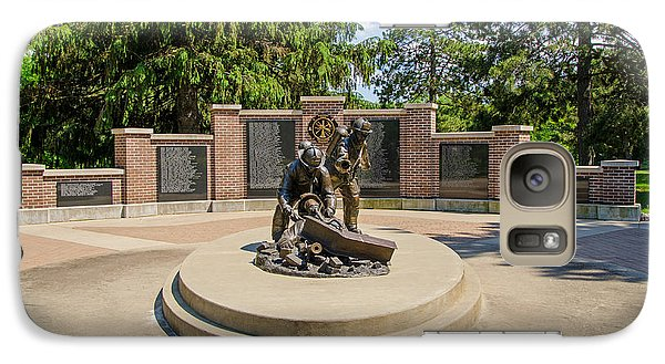 Galaxy Case featuring the photograph Wisconsin State Firefighters Memorial 1 by Susan  McMenamin