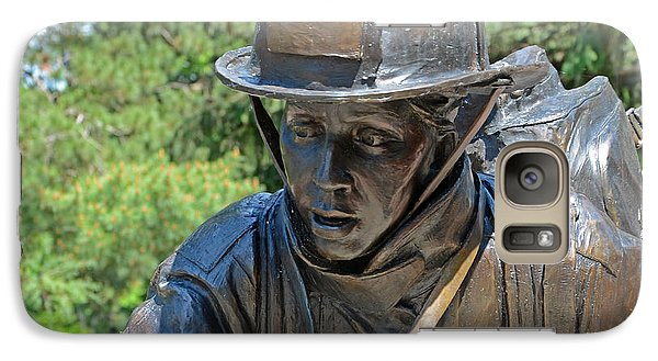 Galaxy Case featuring the photograph Wisconsin State Firefighters Memorial 3  by Susan  McMenamin