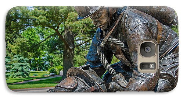Galaxy Case featuring the photograph Wisconsin State Firefighters Memorial 4 by Susan  McMenamin