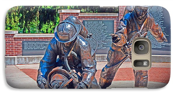 Galaxy Case featuring the photograph Wisconsin State Firefighters Memorial Park 2 by Susan  McMenamin