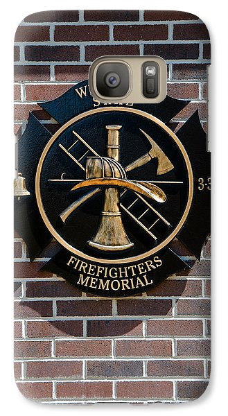 Galaxy Case featuring the photograph Wisconsin State Firefighters Memorial Park 5 by Susan  McMenamin