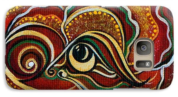 Galaxy Case featuring the painting Wisdom Spirit Eye by Deborha Kerr