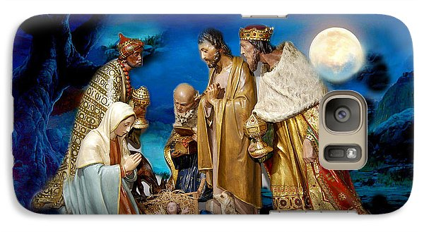 Galaxy Case featuring the painting Wise Men Still Seek Him by Karen Showell