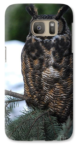 Galaxy Case featuring the photograph Wise Old Owl by Sharon Elliott