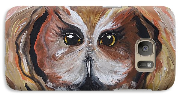 Galaxy Case featuring the painting Wise Ole Owl by Leslie Manley