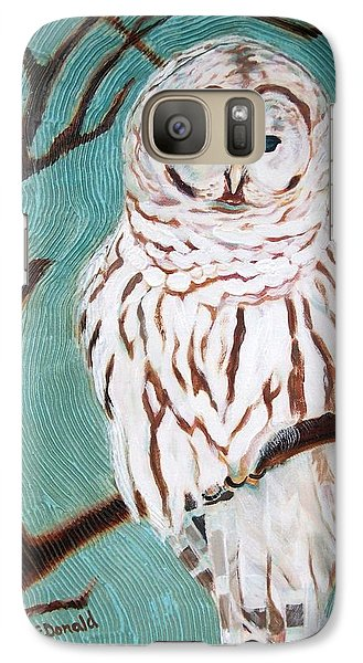 Galaxy Case featuring the painting Wise She Is by Janet McDonald