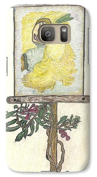 Galaxy Case featuring the drawing Wish And Tell by Kim Pate