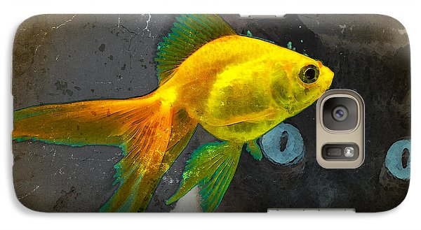 Goldfish Galaxy S7 Case - Wishful Thinking - Cat And Fish Art By Sharon Cummings by Sharon Cummings