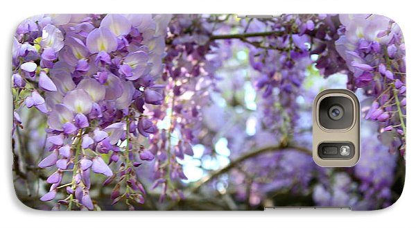 Galaxy Case featuring the photograph Wisteria Dream by Cathy Dee Janes