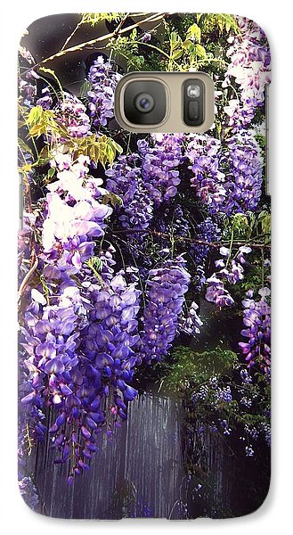 Galaxy Case featuring the photograph Wisteria Dreaming by Leanne Seymour