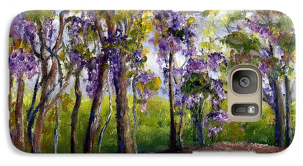 Galaxy Case featuring the painting Wisteria In Louisiana Trees by Lenora  De Lude
