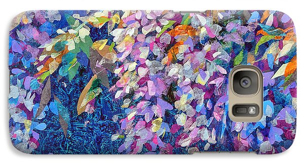 Galaxy Case featuring the mixed media Wisteria by Li Newton