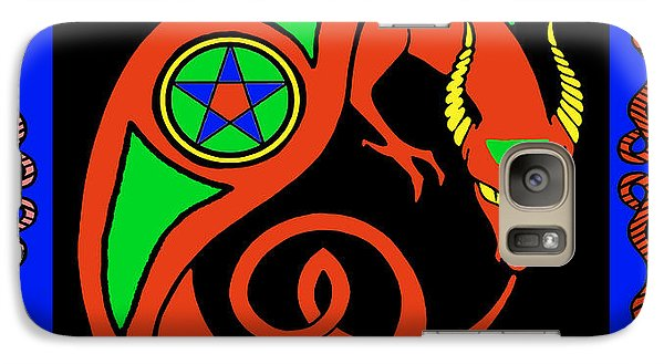 Galaxy Case featuring the digital art Witches Dragon by Vagabond Folk Art - Virginia Vivier