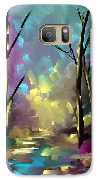 Galaxy Case featuring the painting With A Dream In Mind by Steven Lebron Langston