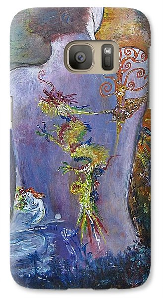 Galaxy Case featuring the painting With A Little Help From My Friends by Diana Bursztein