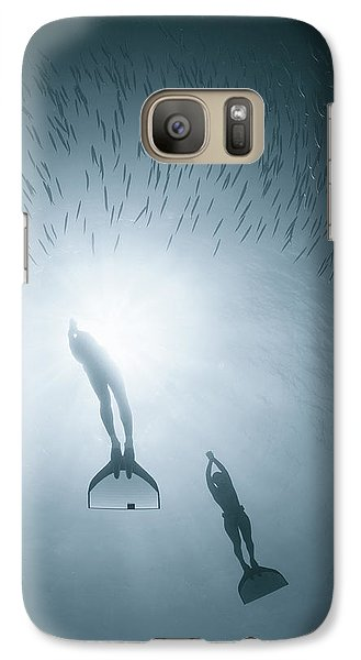 Mermaid Galaxy S7 Case - With Nature As One by Andrey Narchuk