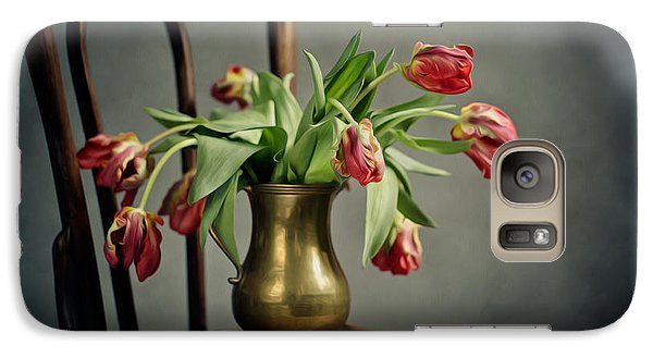 Tulip Galaxy S7 Case - Withered Tulips by Nailia Schwarz