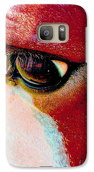 Galaxy Case featuring the photograph Within The Horse's Eyes by Annie Zeno