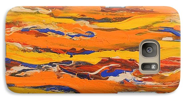 Galaxy Case featuring the painting Within The Landscape by Lyn Olsen