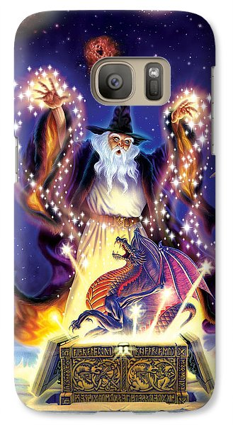 Wizard Dragon Spell Galaxy Case by Andrew Farley
