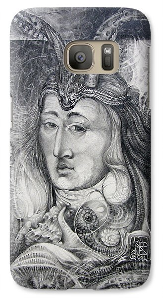 Galaxy Case featuring the drawing Wizard Of Bogomil's Island - The Fomorii Conjurer by Otto Rapp