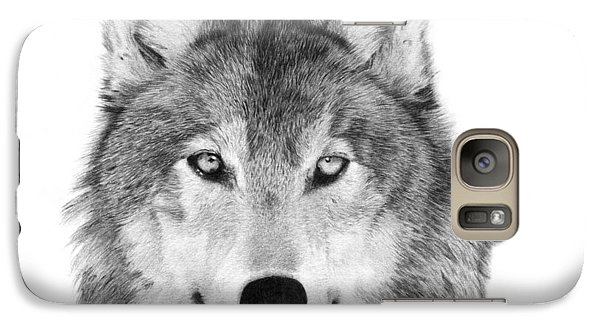 Galaxy Case featuring the drawing Wolf - 004 by Abbey Noelle