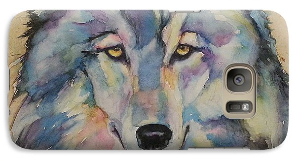 Galaxy Case featuring the painting Wolf by Christy  Freeman