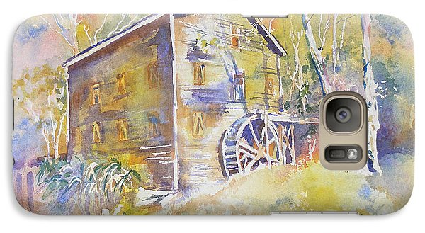 Galaxy Case featuring the painting Wolf Creek Grist Mill by Mary Haley-Rocks