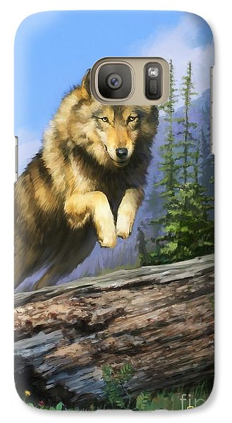 Galaxy Case featuring the painting Wolf Run by Rob Corsetti